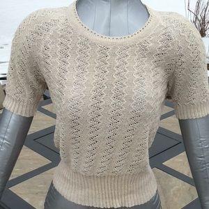 NEW Crochet Linen  Sweater S Anthropologie Like